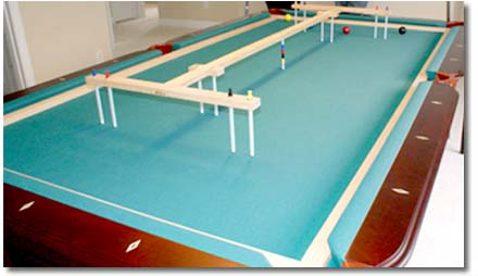 Croquet World Online Magazine News Features - Pool table with pegs